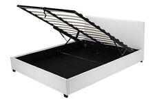 Doppelbett Kunstlederbett 180x200 Weiß mit Lattenrost Angehoben TOP NEU 2017