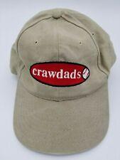 Vintage Hickory Crawdads KC Caps Strapback Hat Cap Throwback 90's Rare