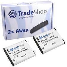 2x AKKU für Olympus TG-820iHS TG805 TG810 D750 D755 D760 SH21 SH25MR
