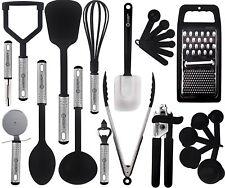 23 Piece Cooking Utensil Set Stainless Steel & Nylon Kitchen Gadgets
