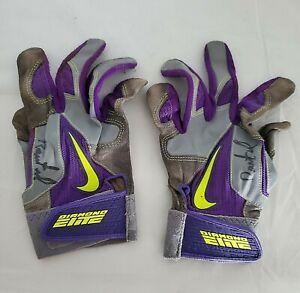 Rockies RAIMEL TAPIA 2014 signed game worn batting gloves ONYX COA
