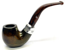 Peterson Ashford Sterling Silver Mounted Small Bent Billiard Pipe (230)