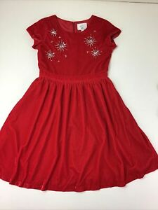Dressed Up By Gymboree Red Velvet Dress, Size 12.  Christmas. Lined.