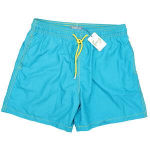 NWT Capelle Miami Swim Trunks Built In Compression Liner Shiny Blue Size XL