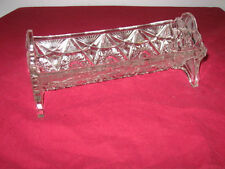 "WESTMORELAND SPECIALTY CO.  ""UNEEDA""  GLASS BISCUIT HOLDER  ---  RARE"