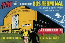 """""""New York Port Authority Bus Terminal"""", giclee open ed, Vintage Sign - 16x24"""