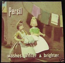 FANTASTIC Glass Magic lantern Slide PERSIL ADVERT C1950 ADVERTISING