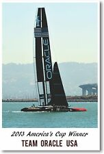 2013 Americas Cup Winner Team Oracle - NEW Sailing Sports POSTER