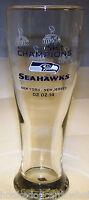 Seattle Seahawks Commemorative 16 oz.Pilsner Glass 2013 Super Bowl 48 Champions
