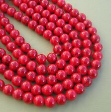 Jade Beads Red Round Dragon Veins 8mm-16inch Strand.