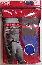 NWT PUMA MEN COTTON STRETCH 1 NAVY 1 BLUE TRUNK UNDERWEAR SIZE X/LARGE 40-42 $32
