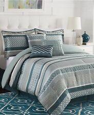 Linear 7 (6) Piece Queen Jacquard Comforter Set N198