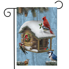 Festive Feathered Friends Christmas Garden Flag Holiday Birds Presents 12.5