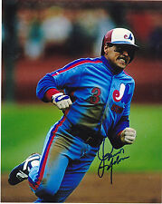 JUNIOR NOBOA  MONTREAL EXPOS   ACTION SIGNED 8x10