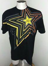 Rockstar Energy Drink Fox Black Mens Short Sleeve T-Shirt Size XL