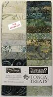 "Timeless Treasures Batik Tonga Treats - Canyon - (20) 2.5"" Fabric Strips"