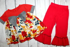 PERSNICKETY🌷Penny Lane Rose Tunic Floral &Baxter Bell Pants Outfit🌷Girl Size 3