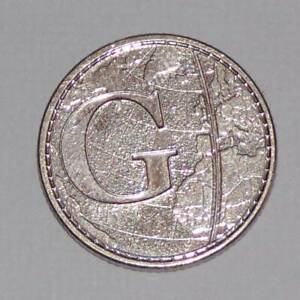 2018 GREENWICH MEANTIME 10p Ten Pence A-Z Alphabet Letter G Coin Circulated