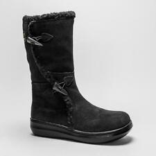 Wedge Suede Textile Boots for Women