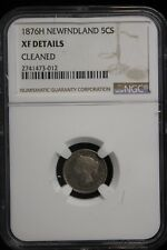 1876 H Canada / Newfoundland. 5 Cents. NGC Graded XF.