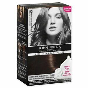 John Frieda Precision Foam Hair Colour 5G MEDIUM GOLDEN BROWN
