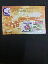 MOMEN: SINGAPORE SC #717c 1995 ORCHIDS MINT OG NH SHEET 4777/9000