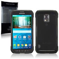 SLIM Fumo Nero in Gomma Gel Custodia Cover per Samsung Galaxy S5 Active