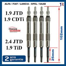 4 Bougie de préchauffage de Alfa Fiat Opel 1,9 Cdti JTD = 0250202036 0100226436
