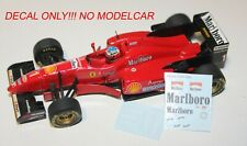 Decals Ferrari F310 Schumacher Irvine tobacco minichamps F1 1/43