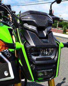 Fit Honda Grom Real CARBON FIBER Headlight cover fairing trim protector pad