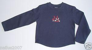 BNWT Boys Girls Mexx Navy Blue Sweat Shirt Jumper Top Team Star Design Age 5-6