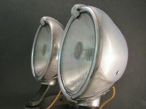 1930 's 1940 's Vintage Accessory Trippe Driving Lights Original Pair Speedlight
