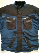 Cycle Spirit Motorcycle Padded Men's Navy Blue Jacket Size (3XL) By Detlev Louis