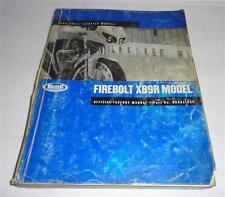 Taller de mano libro/Workshop Manual Harley Davidson Buell firebolt My 2003