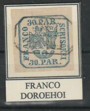"""AA.490- Romania stamps, 1864,30par Type I, Lthigraphed Bull""""s Head"""