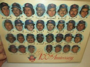 Rare and Vintage!! 1976 Chicago Cubs * Team Head Shots Photo * 100th Anniversary