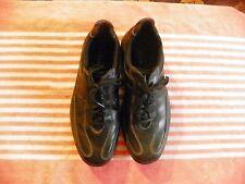 CLARKS LEATHER ATHLETIC SNEAKERS SHOES BLACK MENS SIZE 10 1/2