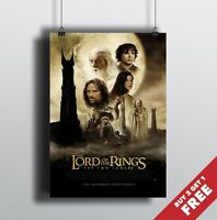 LORD OF THE RINGS Poster A3 / A4 LOTR The Two Towers Movie Art Print Home Decor