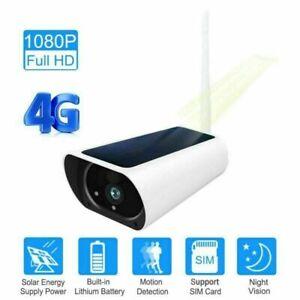 SIM Card 3G 4G Solar Power Wifi Camera Battery 1080P 2 Way Audio Security cam UK