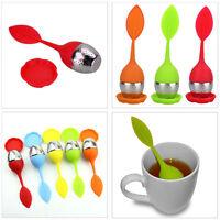 Tea Infuser Silicone Leaf Teaspoon Strainer Spice Filter Herbal Tea Infuser