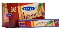 Satya Ajaro Incense Sticks Agarbatti 180 Grams Box | 12 Packs of 15 G Free Ship