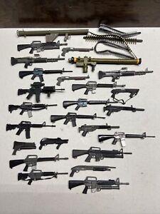 LOT Vintage GI Joe 1/6 weapons rifle pistol machine gun for 12 inch