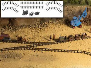 MU N-L00106 - Feldbahn Starterset mit Gleisen, Lok und 2 Loren - Spur N - NEU