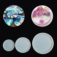 Assorted Round Coaster Resin Epoxy Silicone Molds Jewelry DIY Making Mould AU