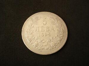 Bulgaria, 5 Leva, 1894, silver