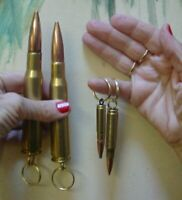 Two 50 CALIBER BMG + FREE 308 Win + FREE 300 Blackout Keyrings. 50 CAL BMG