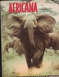 Africana Magazine V5 #8 1975 African Elephant Zanzibar Triumph at Tsavo