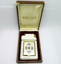 Vintage Marathon Slide-A-Lite Case Lighter Cloisonne Enamel Compact UNUSED