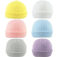 Baby Beanie Hat Double Knitted Winter Cap Warm Boy Girl Infant Newborn-12 Months
