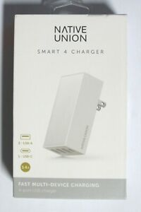 NEW Native Union Smart Hub Universal Power Adapter 4 Port USB WHITE wall charger